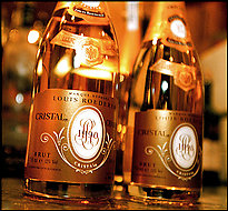 A bottle of Cristal