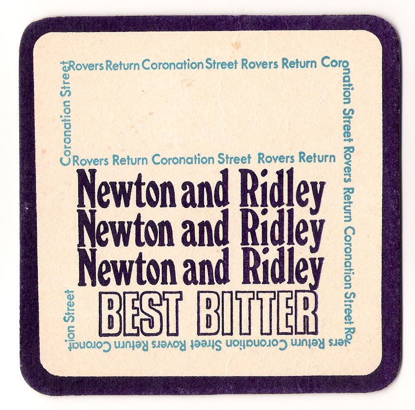 Best Bitter Coronation Street Beer Mat From The Rovers Newton And Ridley