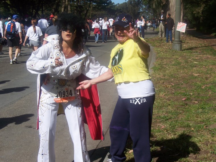 5/19/07 - Susan and a Lady Elvis at Bay to Breakers