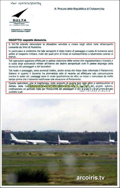 FOTO: Il S.U.L.T.A. di Fiumicino denuncia alla Procura gli aerei tankers senza sigle.