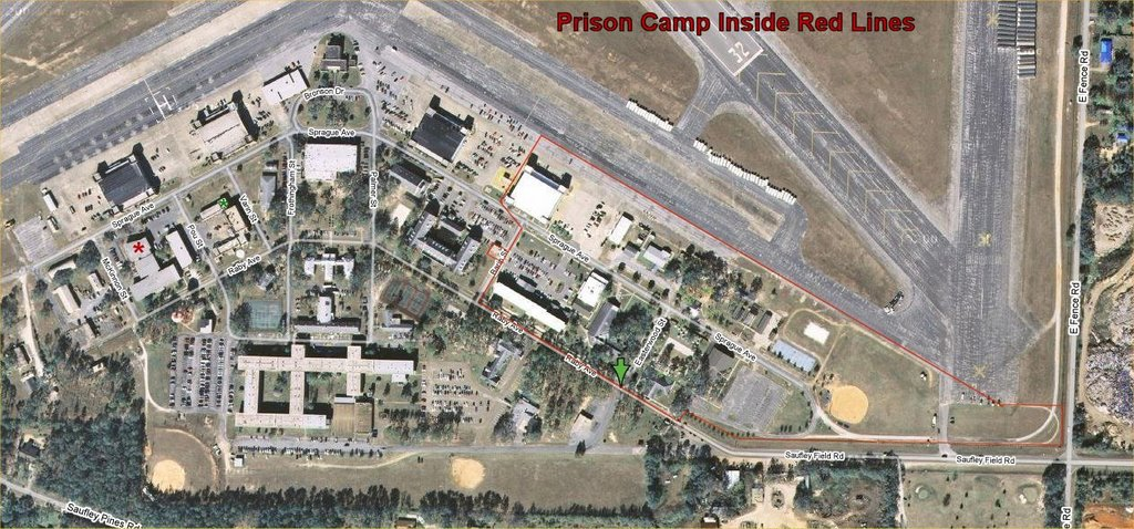 "Pensacola Prison Camp Satellite Map (<a href=""http://www.zichron.net/fpc_map1.jpg"">enlarge</a>)"