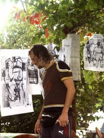 "Exhibition "" all is hanging on line "" by artevent in Trancoso Bahia Brasil"