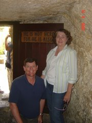 Jackie and me in the garden tomb
