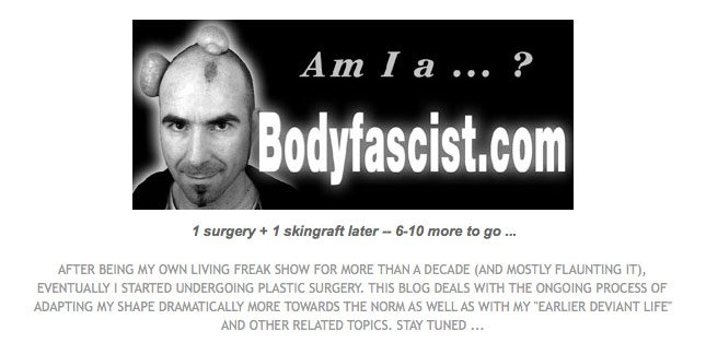 Am I a body fascist?