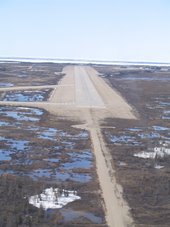 Approaching Churchill Airport