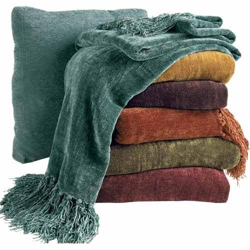 Terramia Oh Comfort And Joy Berkshire Blanket Chenille Throw Bed