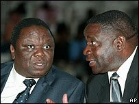 THE MDC PRESIDENT WITH THE LATE NATIONAL CHAIRMAN MATONGO!