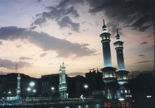 Masjidil Haram at Night