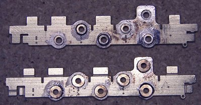 bearings soldered into holes