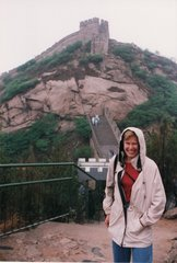 Me at the Great Wall in china