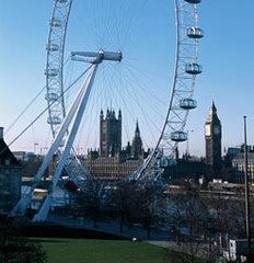 The London Eye & The Houses of Parliament