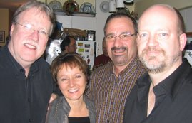 Jim Sinclair, Cindy Oliver, Ken Georgetti and Bill Tieleman