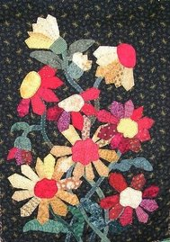 "funflowers 3-d wall hanging quilt pattern""a chance for you to be be the designer"