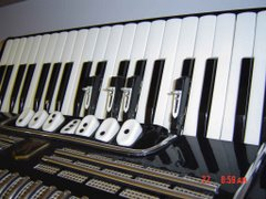 Hohner Acc. with additional 1/4 tone  notes on sliding second storey of black clav.