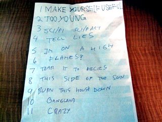 Star Spangles Set List from 11/24/06