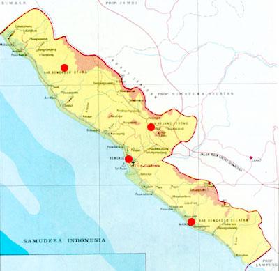 KAMPUNG MELAYU REJANG LEBONG: Peta Wilayah Kerja Bengkulu