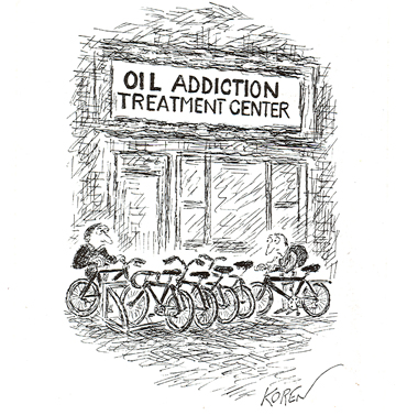 Koren cartoon Oil Addiction Treatment Center