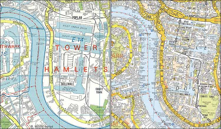 Az Street Map Of London.Moon River A Z London Map