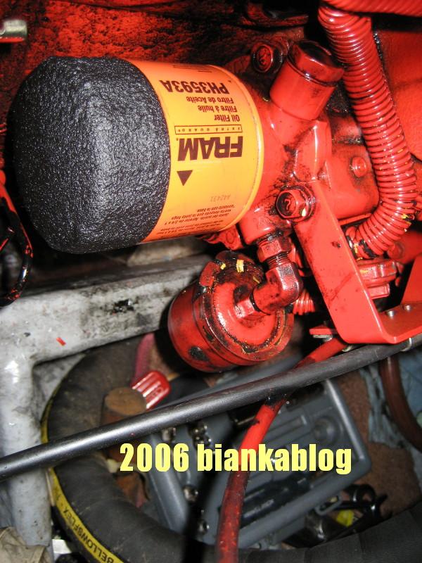 THE BIANKA LOG BLOG: Westerbeke 27 woes the oil leak. on