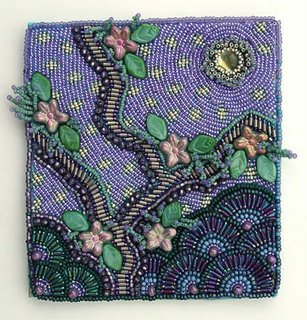 Beaded Blessings, improvisational bead embroidery by Robin Atkins, bead artist