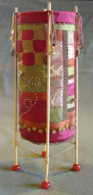 beaded vessel by Robin Atkins, bead artist